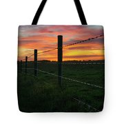 Fencline Sunset Tote Bag