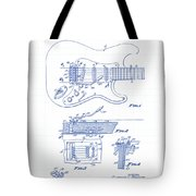 Fender Guitar Patent Drawing Tote Bag
