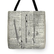 Fender Telecaster Guitar Over Dictionary Page Tote Bag by Anna W