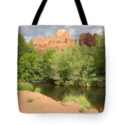 Feng Shui In Sedona Tote Bag by Carol Groenen