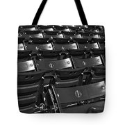 Fenway Park Red Bleachers Bw Tote Bag