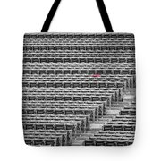 Fenway Park Red Chair Number 21 Bw Tote Bag