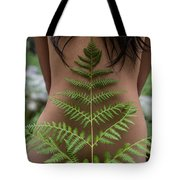 Fern And Woman Tote Bag