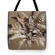 Fern In Sepia Tote Bag