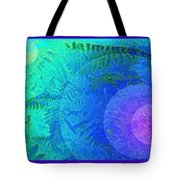 Fern Strip 5 Blue Green Tote Bag