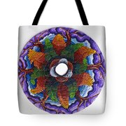 Ferns And Purple Trees Tote Bag