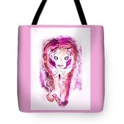 Ferocious Cat Tote Bag by Myrna Migala