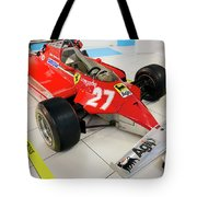 Ferrari 126ck Front Right Museo Ferrari Tote Bag