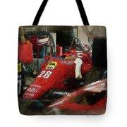 Ferrari 156/85 Tote Bag
