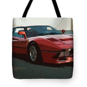 Ferrari 288 Gto - Powerslide Tote Bag