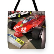 Ferrari 312t4 Front Left Museo Ferrari Tote Bag