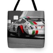 Ferrari Daytona 365 Gtb4 - Italian Flag Livery Tote Bag