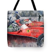Ferrari Dino 246 F1 1958 Mike Hawthorn French Gp  Tote Bag