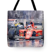 1991 Ferrari F1 Jean Alesi Phoenix Us Gp Arizona 1991 Tote Bag