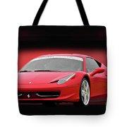 Ferrari F458 'iconic Italian Sports Car' Tote Bag