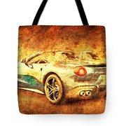 Ferrari F60 America, Golden Poster, Birthday Gift For Men Tote Bag