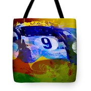 Ferrari Testarossa Watercolor Tote Bag by Naxart Studio