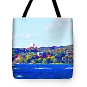 Ferries In The Harbor Tote Bag