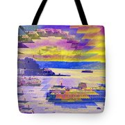 Ferries Off Alki Tote Bag