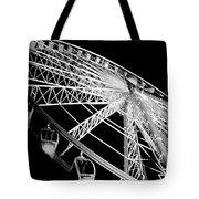 Ferris Wheel Against Black Sky Tote Bag