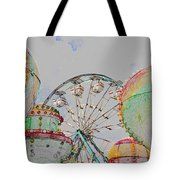 Ferris Wheel And Balloons Tote Bag