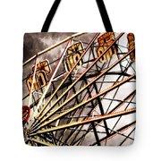 Ferris Wheel At Sunset Tote Bag