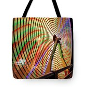 Ferris Wheel  Closeup Night Long Exposure Tote Bag