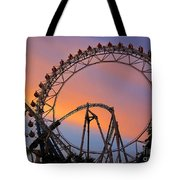 Ferris Wheel Sunset Tote Bag by Eena Bo