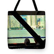 Ferry Across The Harbor Tote Bag