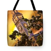 Ferry Building Golden Sun Tote Bag