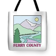 Ferry County II Tote Bag by Sarah Lawrence