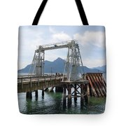Ferry Dock And Pier At Porteau Cove Tote Bag