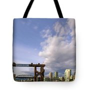 Ferry Dock At Granville Island In British Columbia Tote Bag