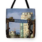 Ferry Dock At Granville Island In Vancouver Bc Closeup Tote Bag