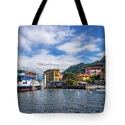 Ferry Dock In Varenna Tote Bag