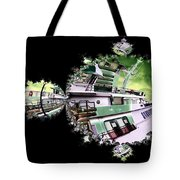 Ferry In Fractal Tote Bag
