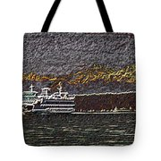 Ferry On Elliott Bay 3 Tote Bag