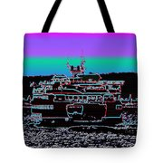Ferry On Elliott Bay 4 Tote Bag