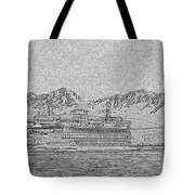 Ferry On Elliott Bay 5 Tote Bag