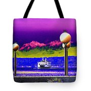Ferry On Elliott Bay Tote Bag