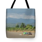 Ferry On The Chindwin 2 Tote Bag
