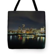 Ferry Terminal In Vancouver Bc At Night Tote Bag
