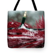 Festive With The Snow Tote Bag