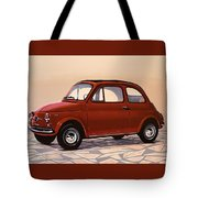 Fiat 500 1957 Painting Tote Bag