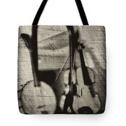 Fiddle And Mandolin Banjo Tote Bag