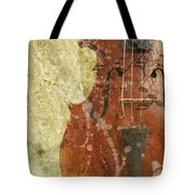 Fiddle In Grunge Style Tote Bag