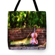 Fiddle On The Garden Wall Tote Bag