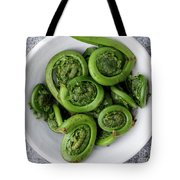 Fiddleheads From Above Tote Bag