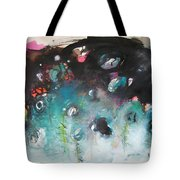 Fiddleheads- Original Abstract Colorful Landscape Painting For Sale Red Blue Green Tote Bag