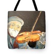 Fiddler Blue Tote Bag